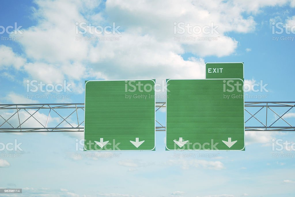 Highway exit sign stock photo