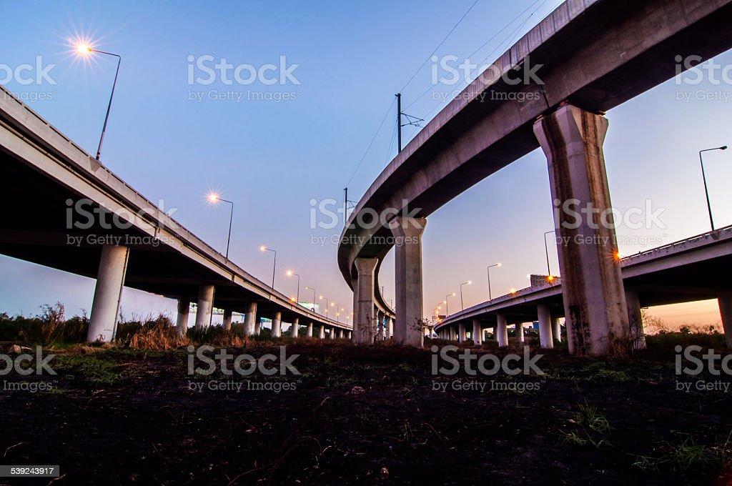 highway express on sky. royalty-free stock photo