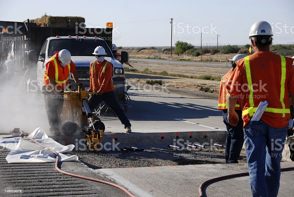 Highway Freeway Construction royalty-free stock photo