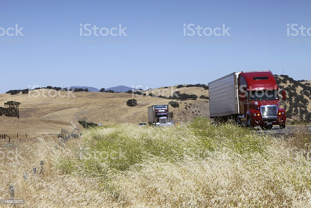 Highway freight royalty-free stock photo