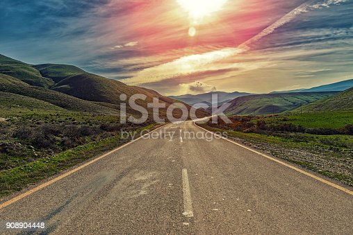 Highway in a mountainous area