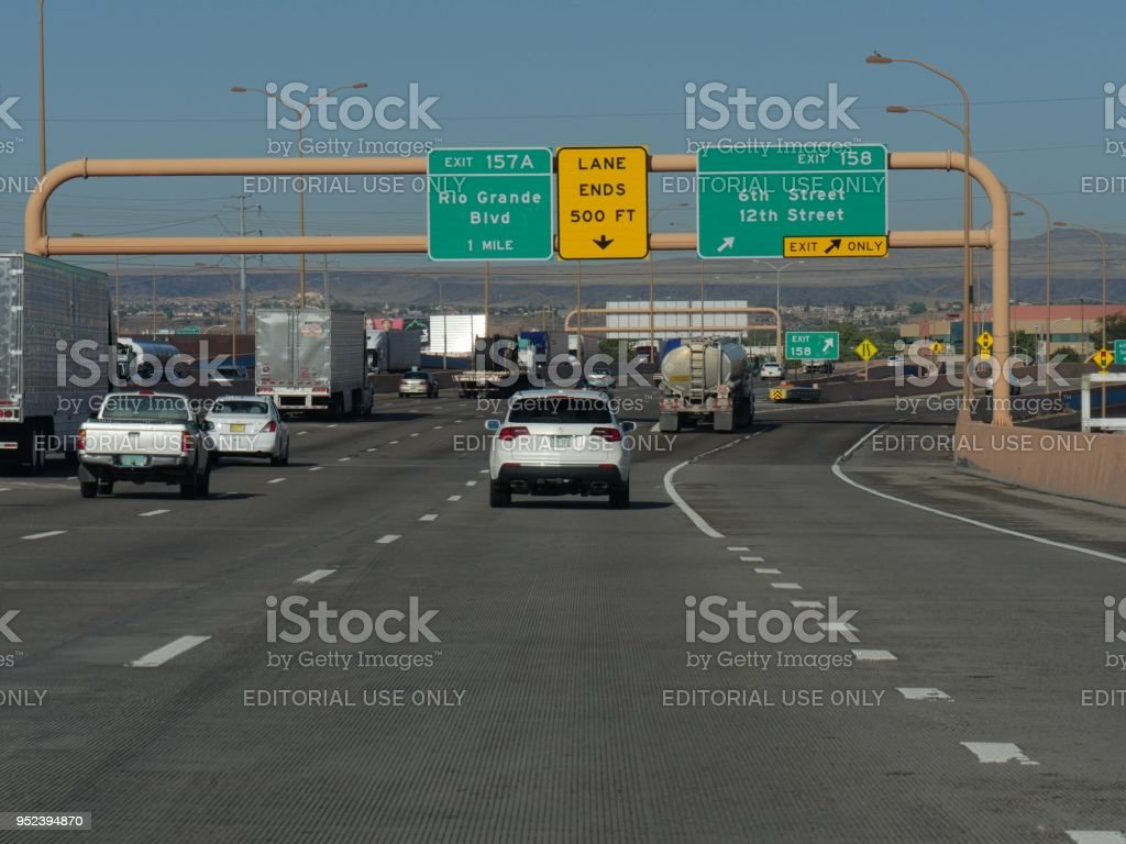 highway in Albuquerque stock photo