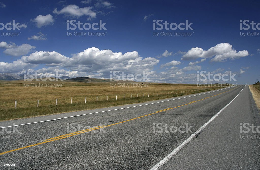Highway in Canada royalty-free stock photo