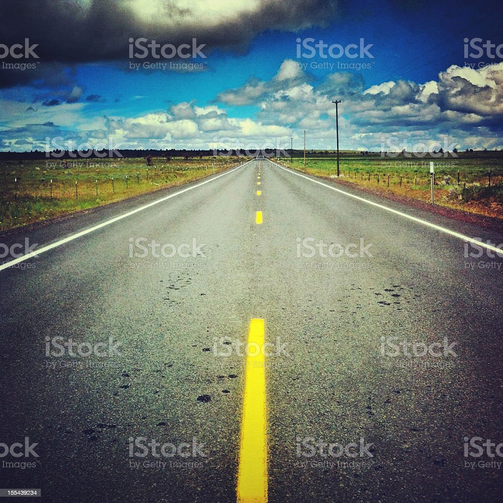 Highway in Central Oregon royalty-free stock photo