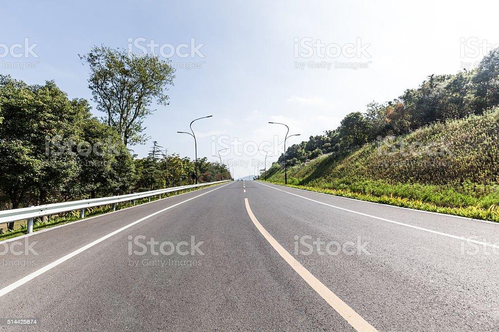 Highway in China stock photo