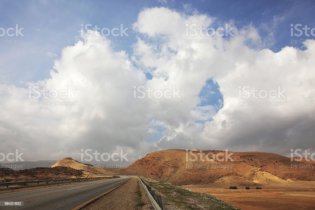 Highway in desert royalty-free stock photo