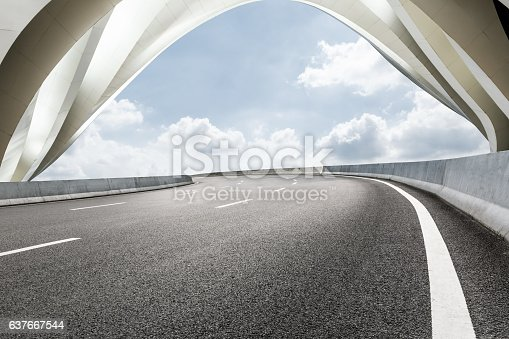 637668332 istock photo highway in front of modern bridge construction 637667544
