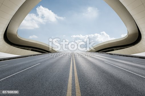 637668332 istock photo highway in front of modern bridge construction 637668090