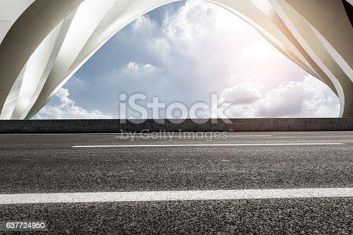 637668332 istock photo highway in front of modern bridge construction 637724950