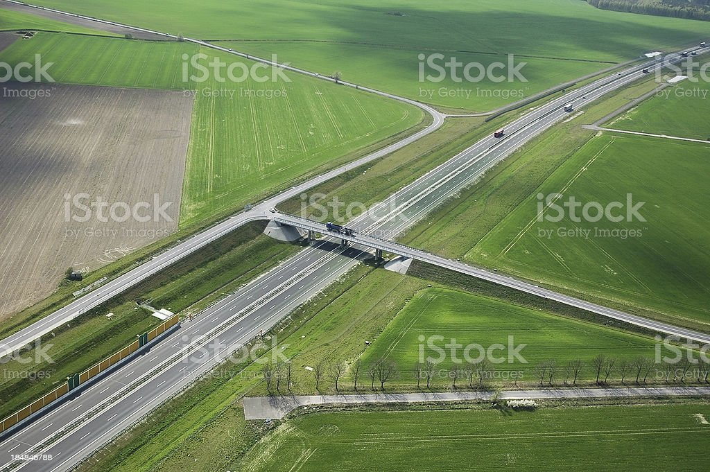 highway in green royalty-free stock photo