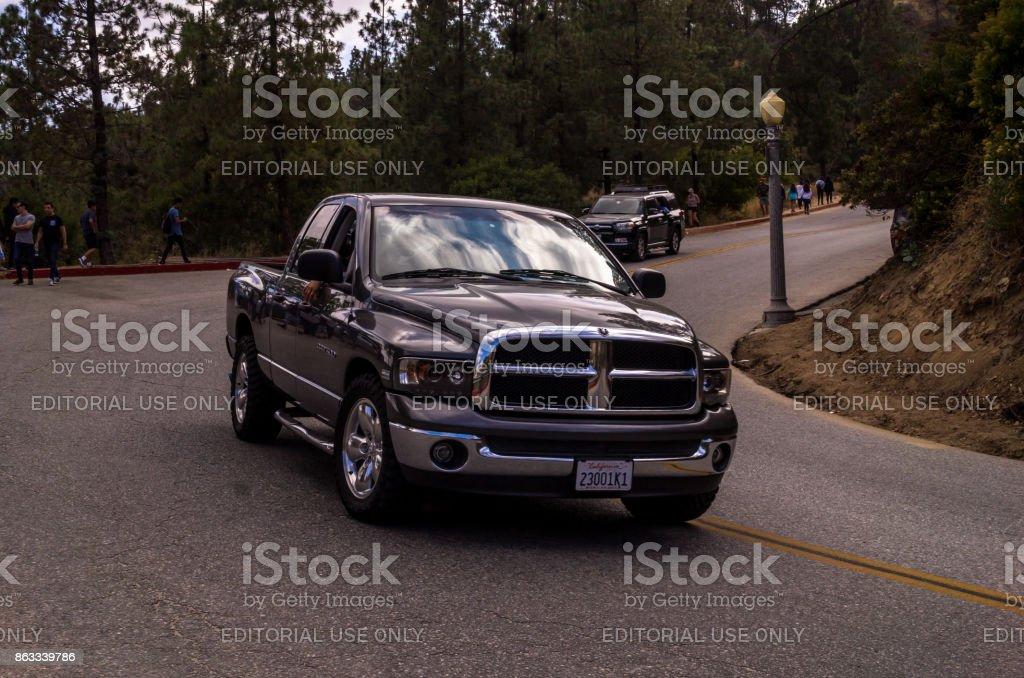 Highway in Griffith Park, Los Angeles stock photo
