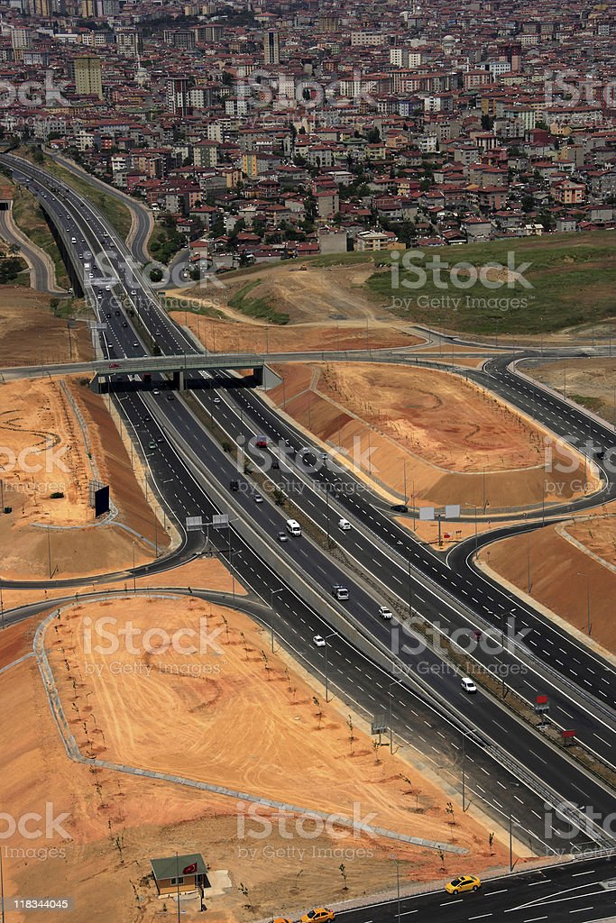highway in istanbul royalty-free stock photo