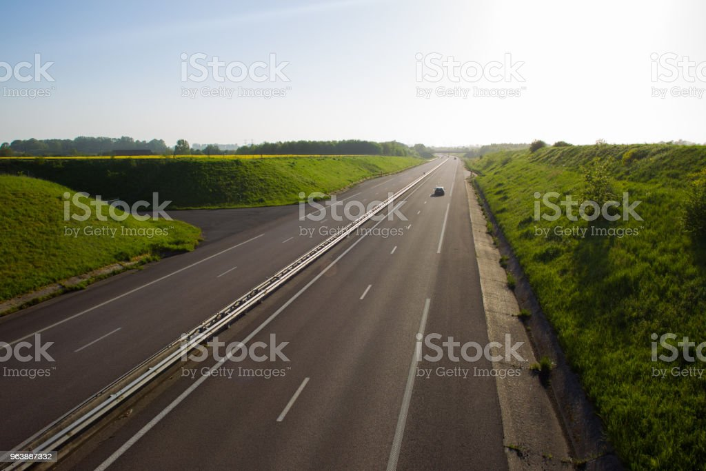 highway in Normandy - Royalty-free Abstract Stock Photo