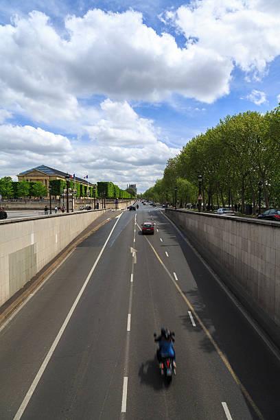 Highway in Paris. stock photo