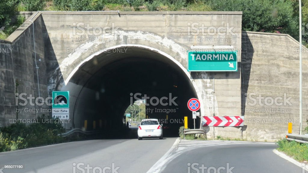 highway in Sicily, Italy royalty-free stock photo