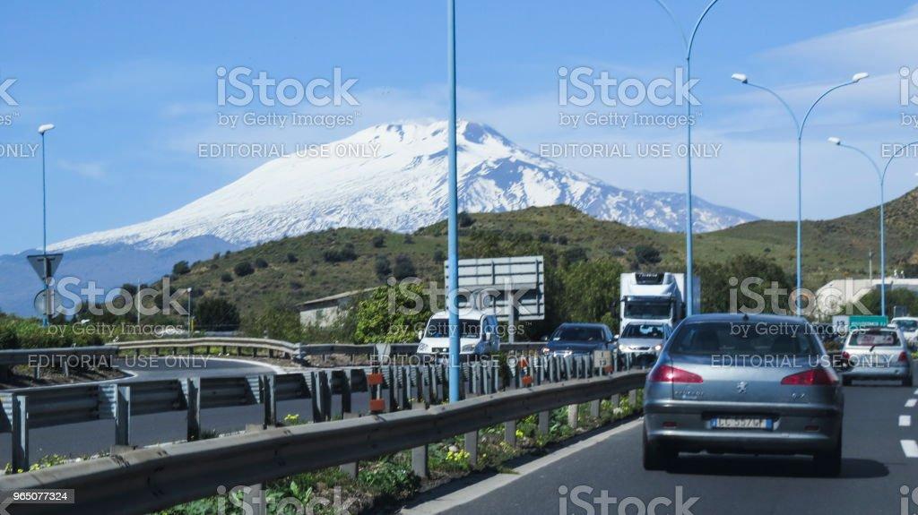 highway in Sicily, Italy zbiór zdjęć royalty-free