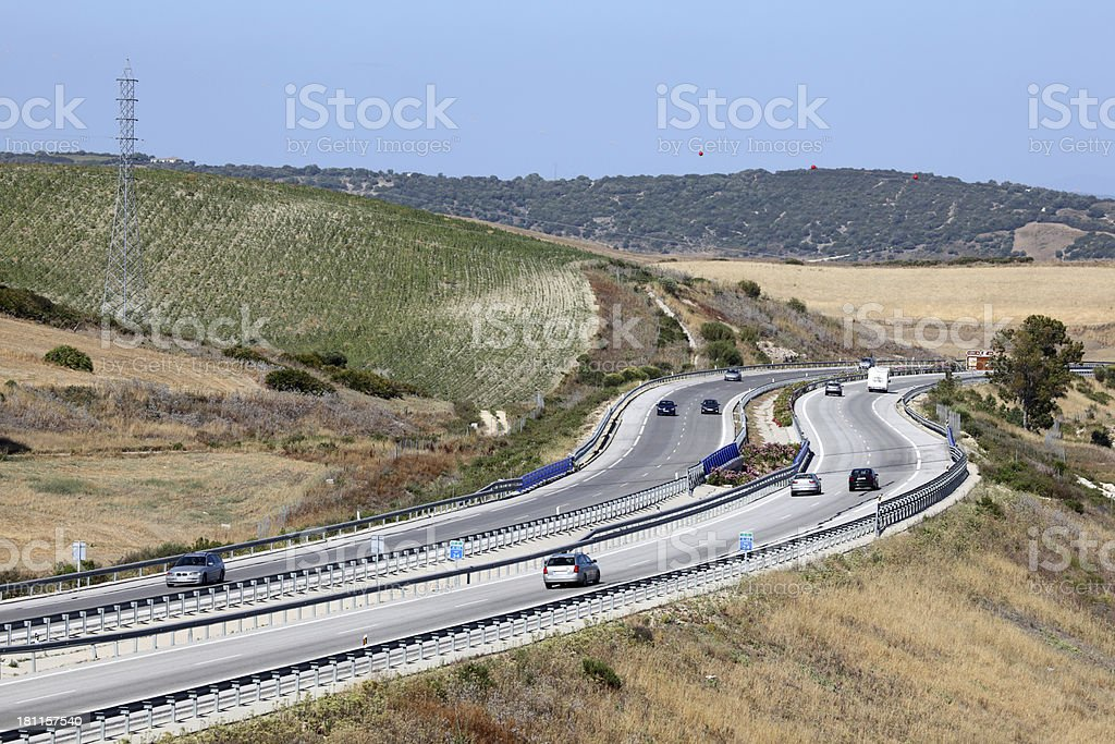 Highway in Spain royalty-free stock photo