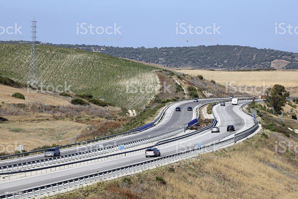 Highway in Spain stock photo