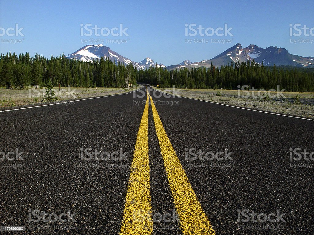 Highway in the Cascades royalty-free stock photo