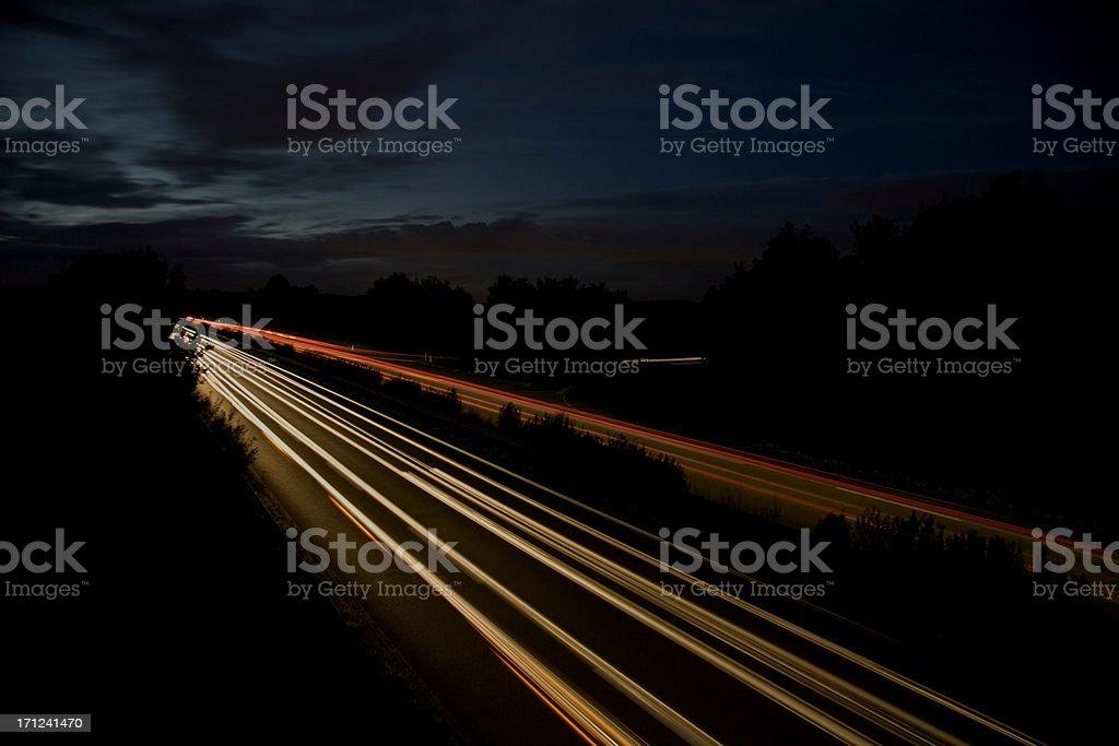 highway in the dark III royalty-free stock photo