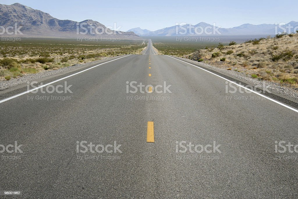 Highway In The Desert stock photo