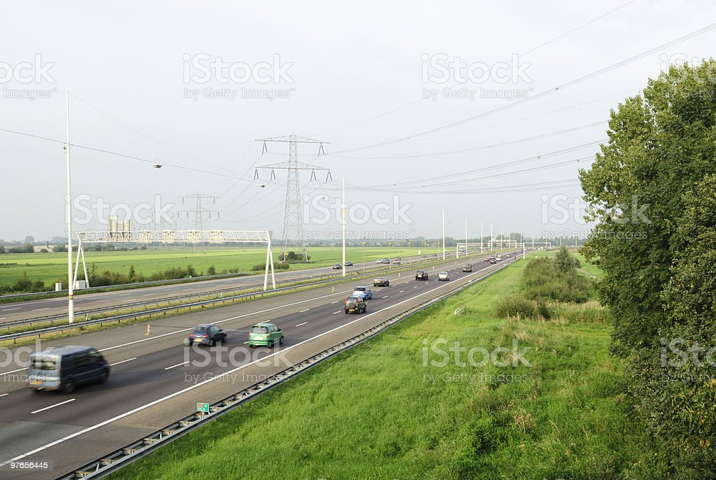 Highway in the Netherlands stock photo