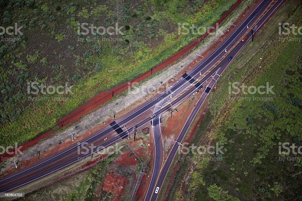 Highway Interchange on Hawaii Island royalty-free stock photo