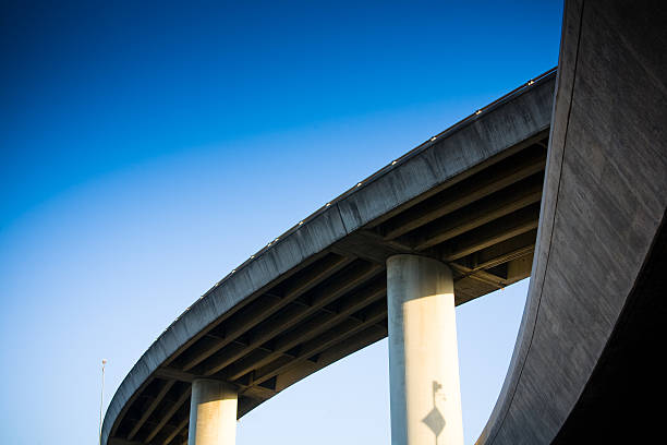 Highway Interchange Interstate 280 in San Francisco interchange elevated road stock pictures, royalty-free photos & images
