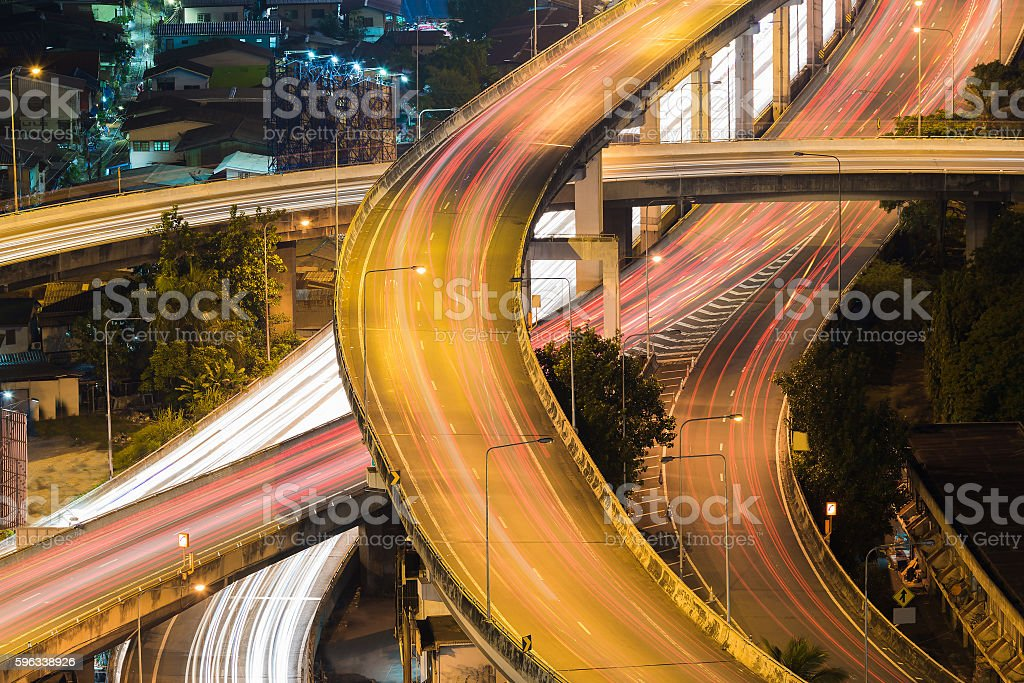 Highway interchanged top view close up royalty-free stock photo