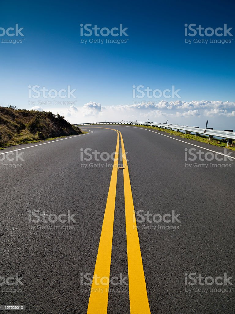 Highway into the Clouds stock photo