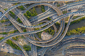 istock Highway Junction Intersection and Railroad Tracks, Brisbane, Australia 1198781366