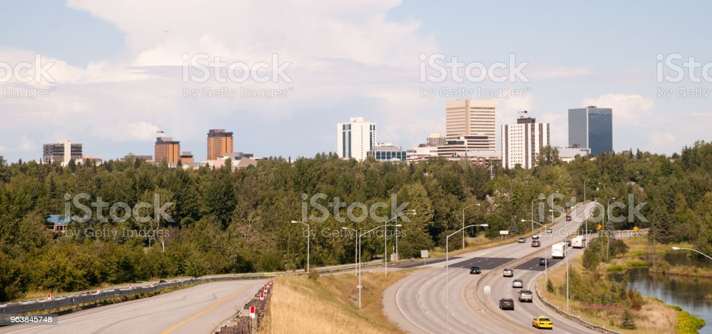 Highway Leads to Anchorage Alaska USA North America - Royalty-free Agricultural Field Stock Photo
