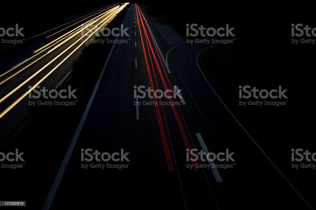 highway lights royalty-free stock photo