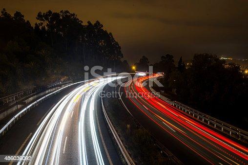 539234032 istock photo Highway lights 486036092
