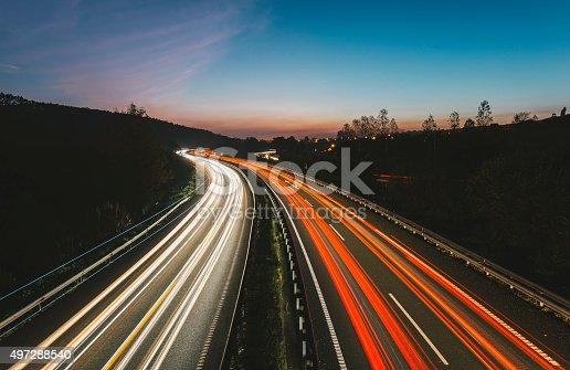539234032 istock photo Highway lights 497288540