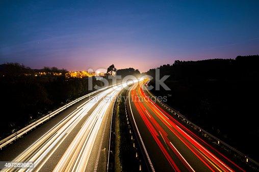 539234032 istock photo Highway lights 497289662