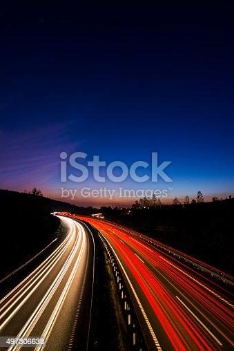539234032 istock photo Highway lights 497306638