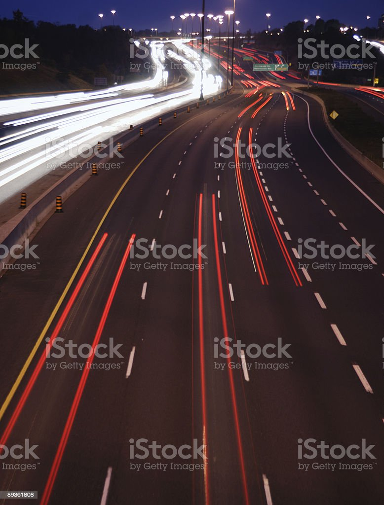 Highway luci foto stock royalty-free