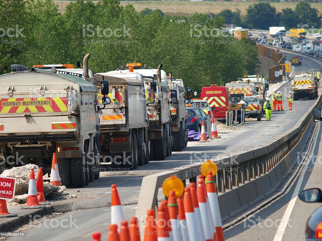 Highway Maintenance royalty-free stock photo