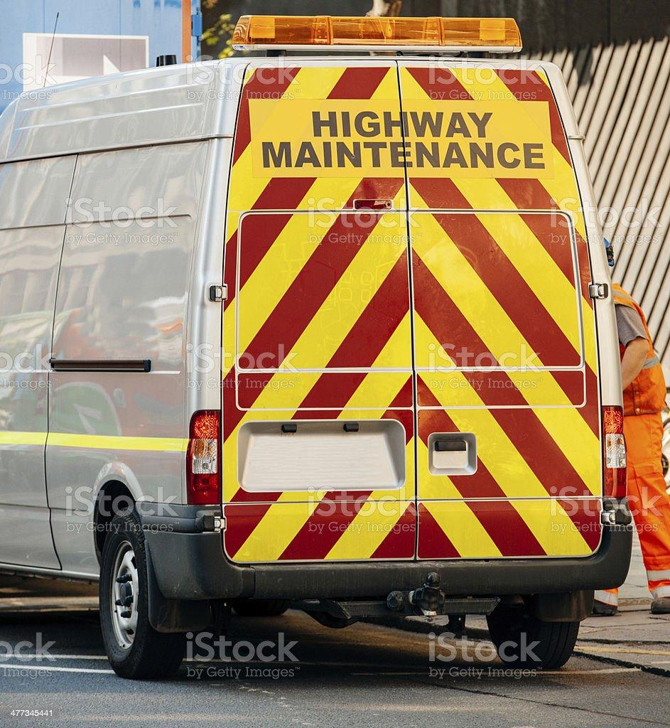 Highway maintenance van royalty-free stock photo