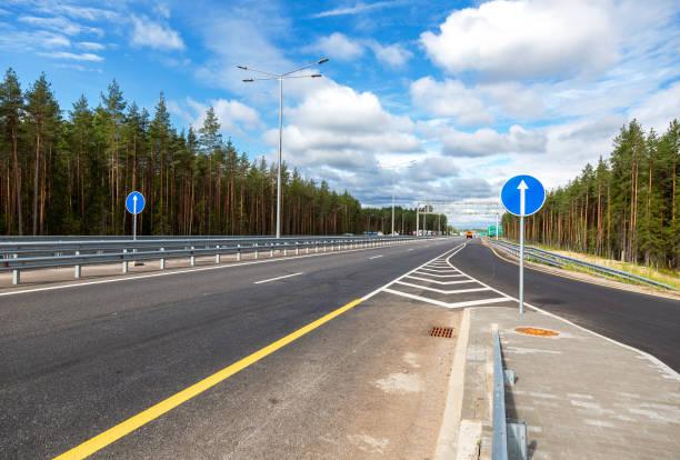 Autobahn M11 von Moskau nach St. Petersburg – Foto
