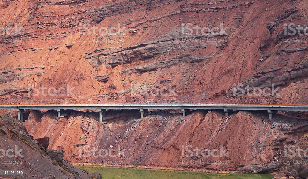 Highway on a cliff stock photo