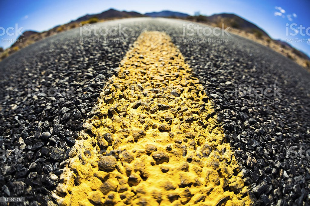 Highway on a sunny day royalty-free stock photo