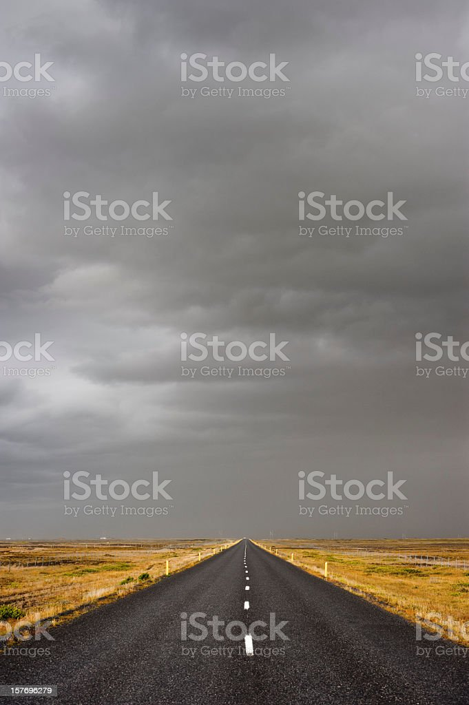 highway on iceland stock photo