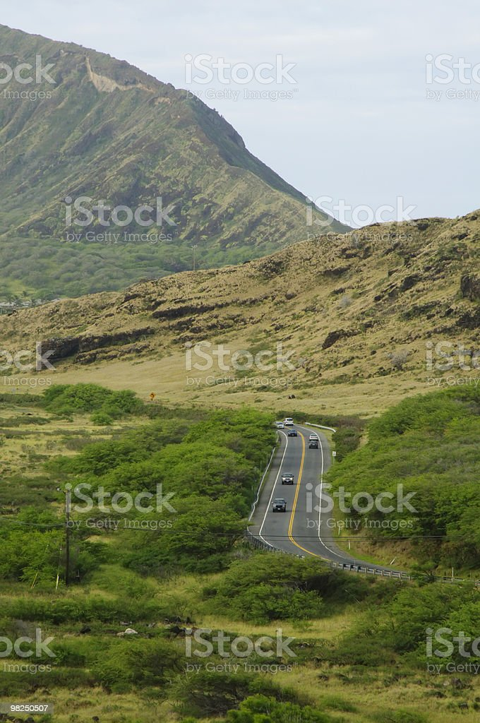 Highway on Oahu royalty-free stock photo
