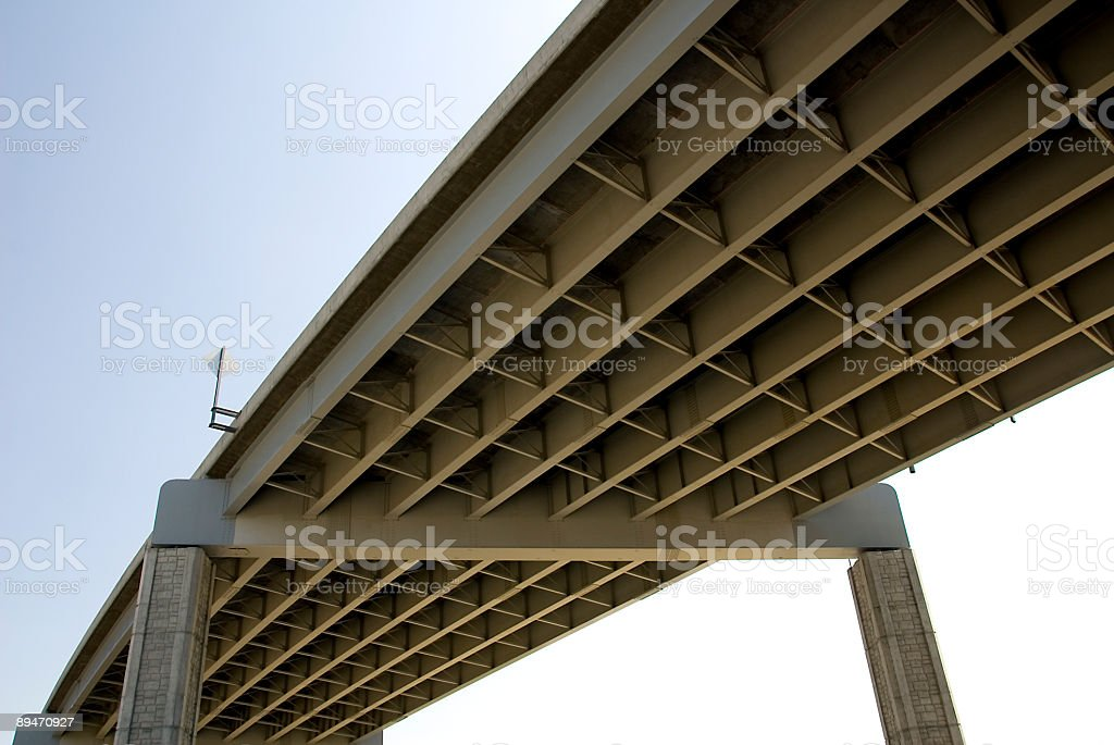 Highway Overpass Architecture royalty-free stock photo
