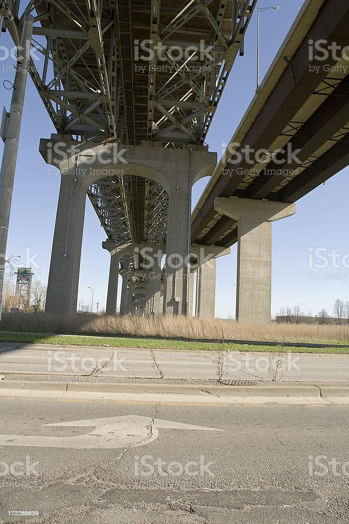 highway overpass royalty-free stock photo