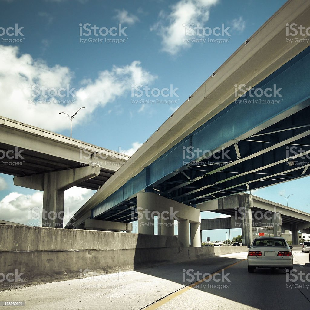 Highway Overpasses stock photo