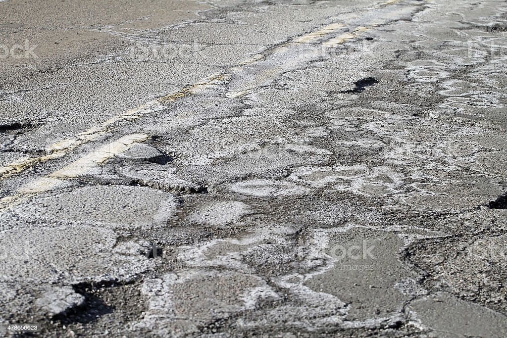 Highway Patch Work royalty-free stock photo