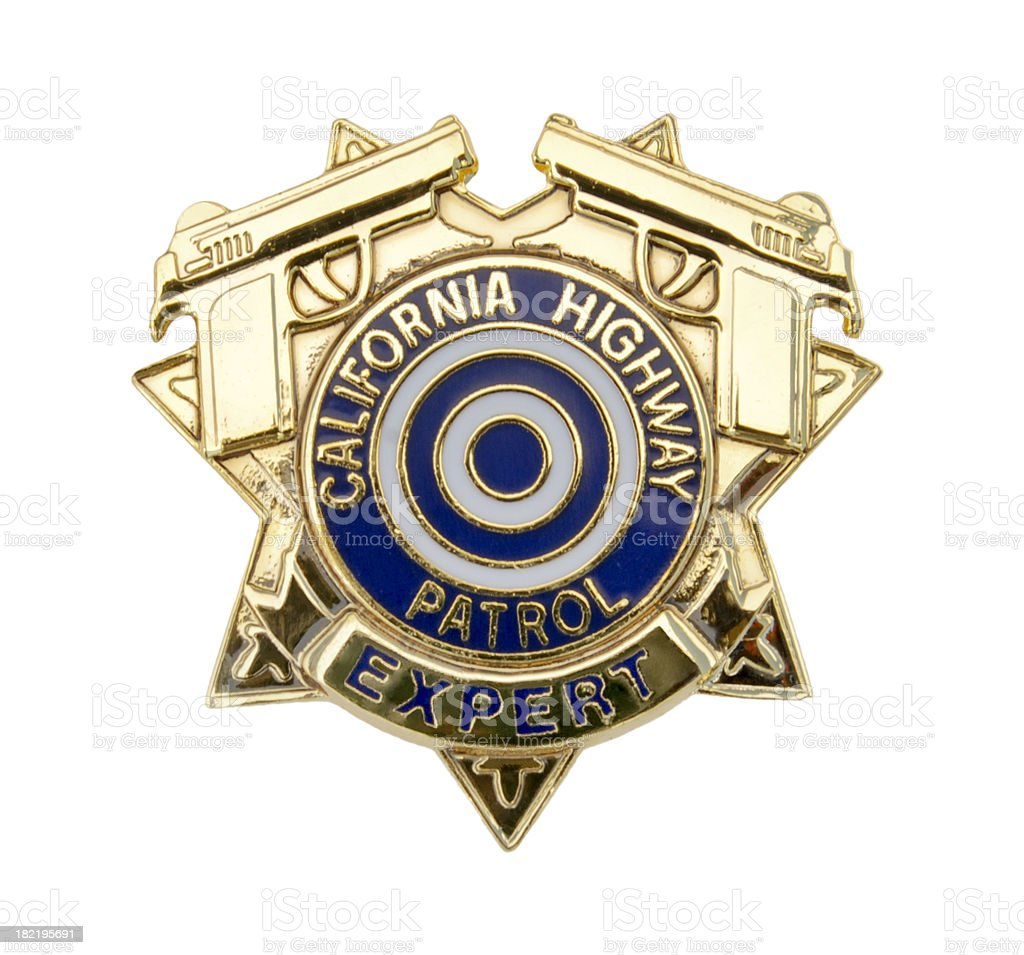 Highway Patrolman's Marksmanship Award Pin royalty-free stock photo